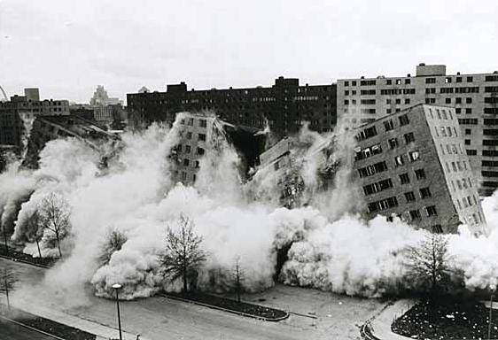 6. demolition of Pruitt Igoe housing complex 1974