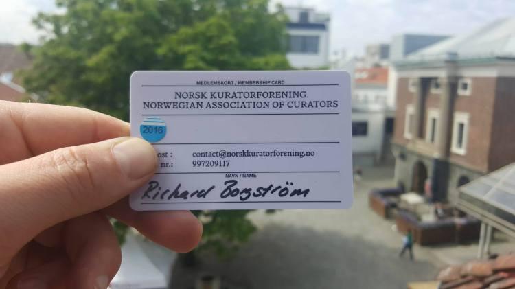 curators card